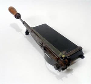 Antique Vintage Desk Office Cast Iron Paper Trimmer Guillotine Cutter Photography Crafts Art