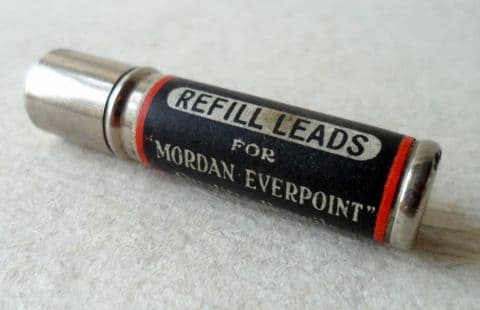 Antique Vintage Desk Office Sampson Mordan Everpoint Pencil Tin Tube Of Medium Refill Lead x10 for Mechanical Pencil c/w Leaflet 1930s Case (1)