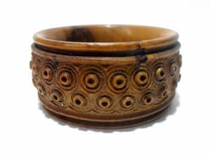 Antique Vintage Jerusalem Israel Olive Wood Napkin Ring Wood Wooden Hand Carved Israeli Judaica