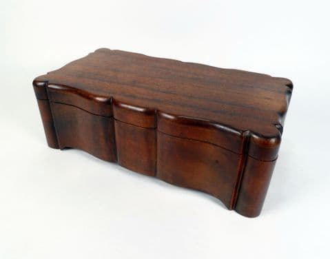Antique Wood Charles Thesen Knysna South African Stinkwood Casket Box Circa 1910 Steamship Company