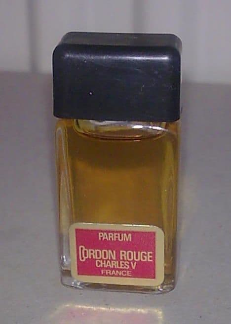 Full Vintage Mini Miniature Perfume Scent Bottle Cordon Rouge Parfum Charles V The Fifth Paris 50s