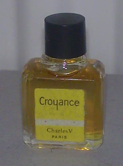 Full Vintage Mini Miniature Tiny Perfume Scent Bottle Croyance Charles V The Fifth Paris Circa 50s