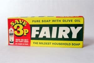 Vintage Packaging 2 Large Proctor & Gamble Fairy Household Soap Original Box 70s 3p OFF Fairy Liquid