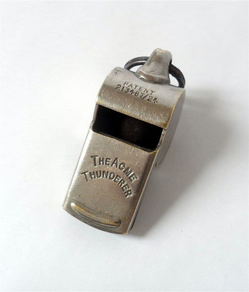 Vintage Provisional Patent Hudson Acme Thunderer Whistle Circa 1924-30 Escargot Type Early Example