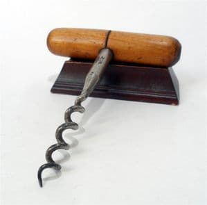 HTF Vintage English Defiance Abram Brooksbank Sheffield Self Puller T Tee Corkscrew 1930s Cannon