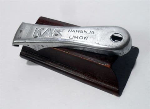 HTF Vintage KAS Vitoria-Gasteiz Spain Orange Lemon Naranja Limon Cap Lifter Bottle Opener 1950s