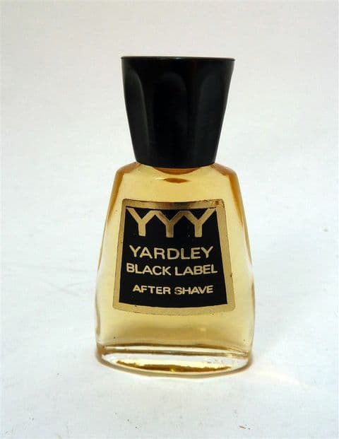 HTF Vintage Miniature Mini Yardley Black Label YYY After Shave Circa 1970s
