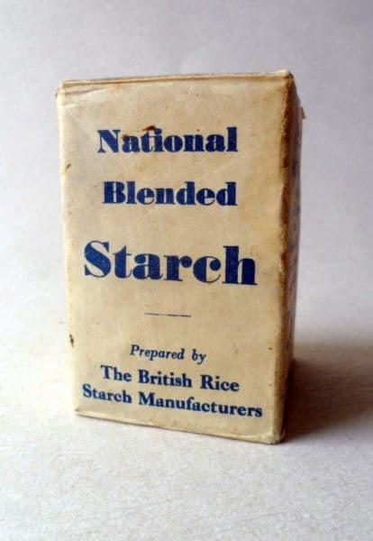 HTF Vintage Packaging National Blended Starch prepared bt The British Rice Starch Manufacturers Washing Laundry Full & Unused