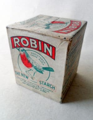 HTF Vintage Packaging Robin The New Starch Reckitt & Sons Hull & London Reckitts Washing Laundry Size B Box Full & Unused Circa 1910