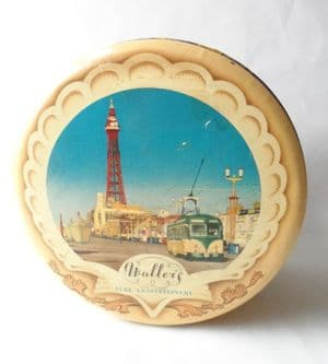 HTF Vintage Waller & Hartley Blackpool Milady Toffee Shop Tin Circa 1950s Tower Tram BPB Big Dipper