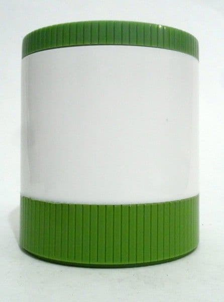NOS Vintage Aladdin Model #7100 Green White Insulated Jar Freezer Lid 1970s Thermos Flask Food VW