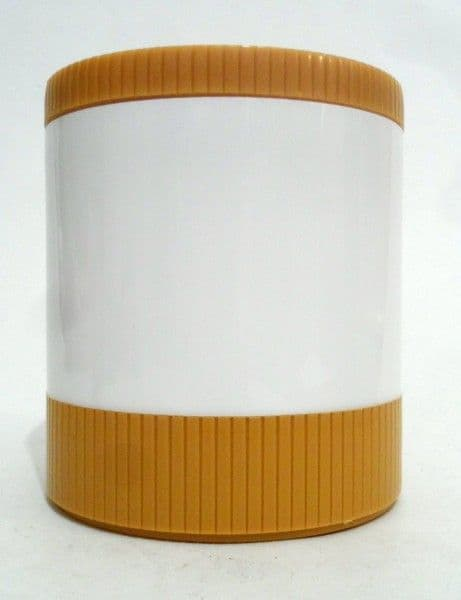 NOS Vintage Aladdin Model #7100 Mustard White Insulated Jar Freezer Lid 1970s Thermos Flask Food VW