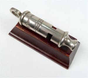 Original Antique J Hudson & Co 244 Barr Street Birmingham Metropolitan Police Whistle 1920s GSW