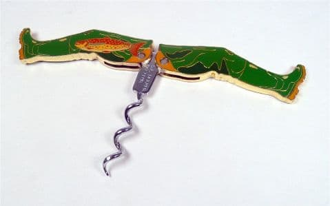 Post Vintage English Patent Pending Folding Leg Pull Fisherman Angler Design Corkscrew 1995