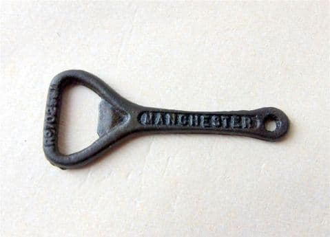 Vintage 1923 Registered Design Cast Iron Crown Cork Bottle Opener Manchester City Dairies #Milk