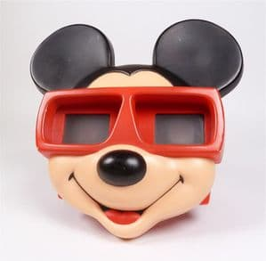 Vintage 3-D Viewmaster View Master Model  J Mickey Mouse Face Stereoscope Viewer