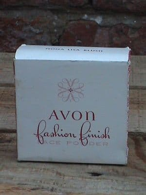 Vintage Avon Mona Lisa Blush Fashion Finish Face Powder 43g in Original Box As New