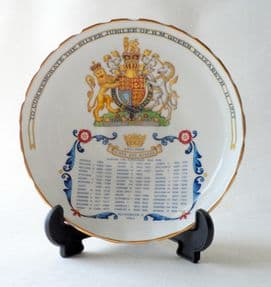 Vintage Aynsley Fine English Bone China 1977 Silver Jubilee Bon Bon Dish Kings & Queens