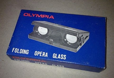 Vintage Boxed Olympia Folding Opera Glasses Sports Sporting Gift Bags Horse Racing Theatre Events
