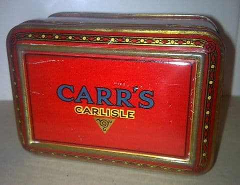 Vintage Carr's Carrs Carlisle Pineapple Jack Sample Biscuit Tin Circa 1920s