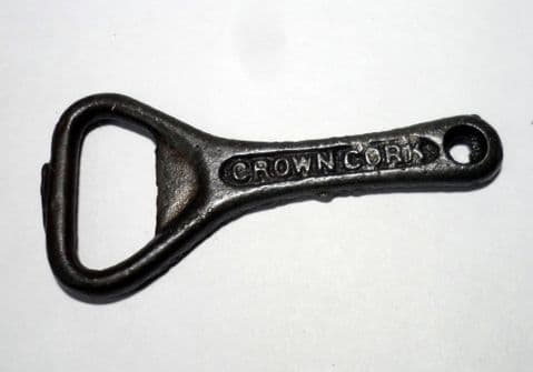 Vintage Cast Iron Crown Cork Bottle Opener  Short Type - Early Example