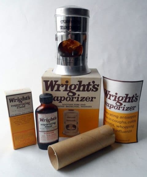 Vintage Chemist Medical Complete & Unused Boxed  Wrights Vaporizer Vaporiser Kit Circa 1950s
