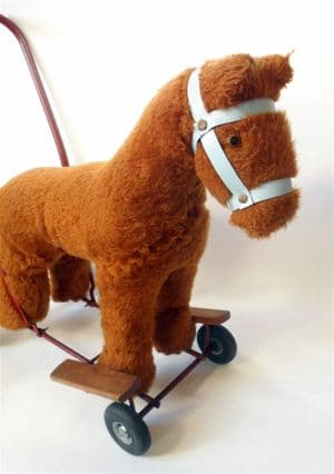 Vintage Child's Push Ride Along Walker Toy Horse Lines Bros Triang Interior Design