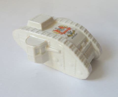 Vintage Crested China WW1 Tank Crest of Southport J R & Co Victoria China England 1920/30s Souvenir