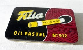 Vintage Danish Artists Filia Oil Pastel Crayons No 912 Tin Circa 1960s Complete with Contents Denmark Art Pastels Drawing