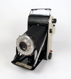 Vintage Folding Camera English Kodak Sterling II 2 1950s Pronto Shutter Anaston Lens Canvas Case