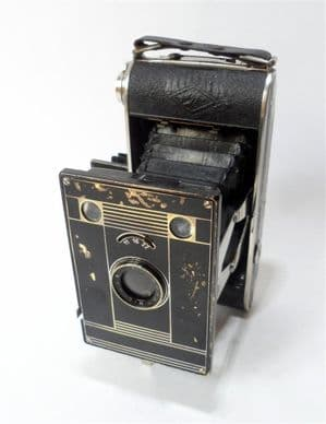 Vintage Folding Camera German Agfa Billy Clack Billinar Model 74 120 Roll Film Circa 1930s Art Deco