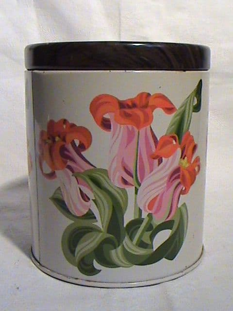 Vintage Fox's Foxes Glacier Mints Limited Kitchen Tin Circa 1960/70s Iris? Flowers