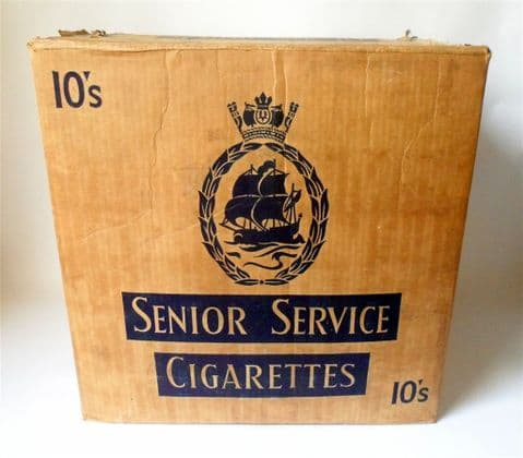 Vintage Gallaher Ltd Senior Service Cigarette Large Delivery Shipping Box  Display Shop Prop TV Film