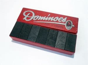 Vintage Game Good Win Trademark Dominoes Set in Original Box Circa 1930s  Boxed Double Six Sprinter