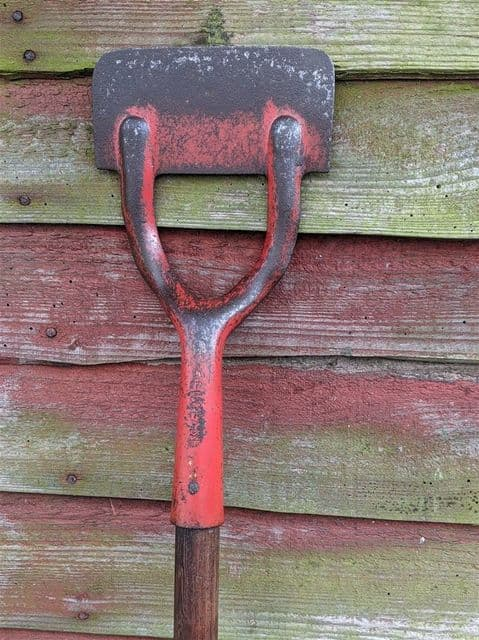 Vintage Gardening Tool Early 20th Century Made in England Long Handled Dutch Hoe Strong Sturdy