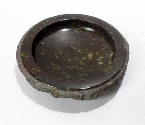 Vintage Geological Souvenir Polished Cornish Stone Serpentine Marble Dish Bowl Pin Tray Trinket