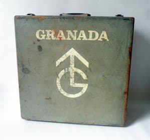 Vintage Granada TV Wooden TV Engineers Tool Box Case 1960s Television Repair Display Prop Storage