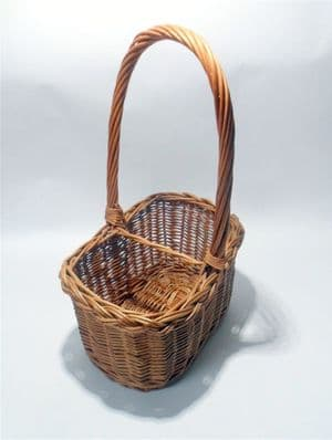 Vintage Home Kitchen Dining Table Wicker Basket 2 Wine Bottle Holder Carrier Storage Super Quality
