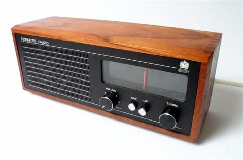Vintage Home Roberts Surrey RM20 Table Top Mains Transistor Radio 1970s Teak Mid Century Bookshelf
