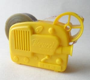 Vintage Italian Fiorucci Cine Film Projector Tape Dispenser Stiassi 70s Mid Century Design YELLOW