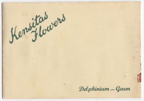 Vintage Kensitas Flowers Postcard Silk Delphinium Geum 1933 Series 1 Type A Cover Circa 1930s