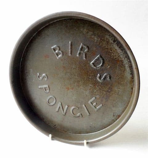 Vintage Kitchen Bird's Spongie Advertising Baking Tin Tray Circa 1930s Alfred Bird Birmingham Sponge Cake Swiss Roll
