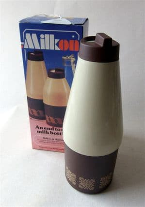 Vintage Kitchen Boxed Patent MilkOn Rotherham Glass Milk Bottle Cover CoID Design Centre London