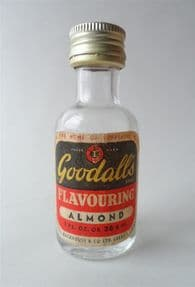 Vintage Kitchen Goodall's 1oz Bottle Almond Flavouring Essence 1960s Goodall Backhouse & Co. Leeds Home of Yorkshire Relish