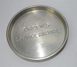 Vintage Kitchen Green's Sponge Mixture Advertising Baking Tin Tray H J Green Brighton Sponge Cake