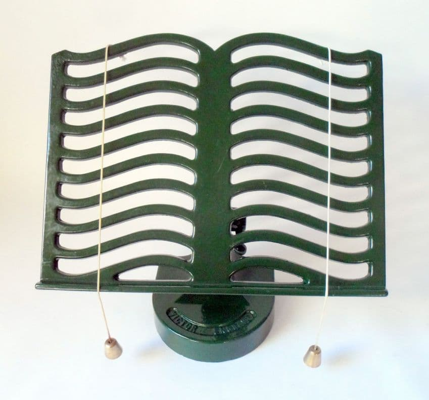 Vintage Kitchen Green Victor England Cast Iron Cookery Recipe Book Stand Robert Welch Tablet IPad