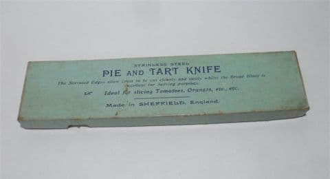 Vintage Kitchen Harrison Fisher Sheffield Firth Stainless Steel Pie Tart Knife Server Fruit Box Cake