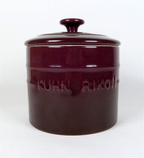 Vintage Kitchen Kuhn Rikon Switzerland Purple Pottery Storage Jar Canister Tea Coffee Sugar Etc