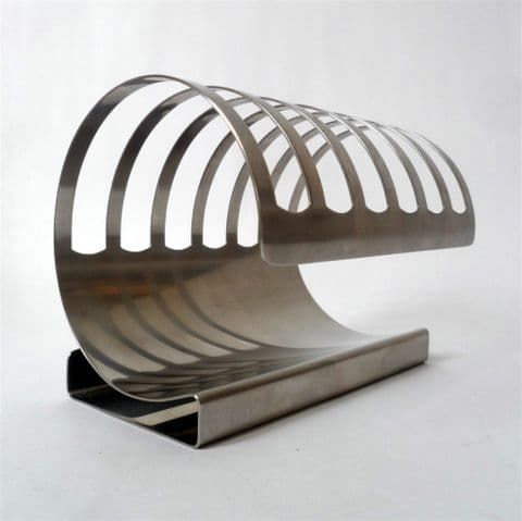 Vintage Kitchen Pinnock Nutbrown 18/8 Stainless Steel Toast Rack 6 Slice 1960 1970 Tableware Letter