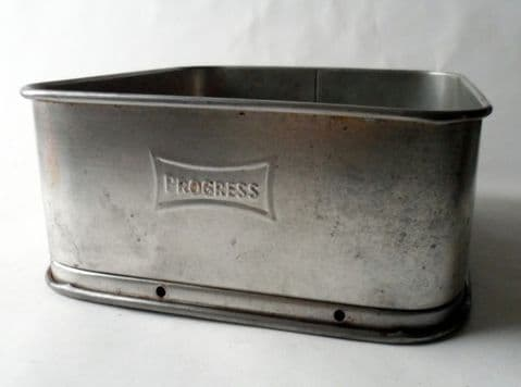 Vintage Kitchen Progress Square Baking Cake Tin George Wilkinson Burnley Circa 1930s Insulated Base
